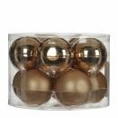Набор 10 шаров  6 см Золотой
