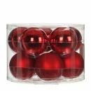 Набор 10 шаров  6 см Красный