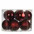 Набор 10 шаров  6 см Темно-красный