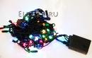 Электрогирлянда LED 100  4 цвета 8 метров