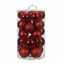 Набор пластиковых шаров 23 шт Красный