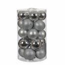 Набор пластиковых шаров 23 шт Серебрянный