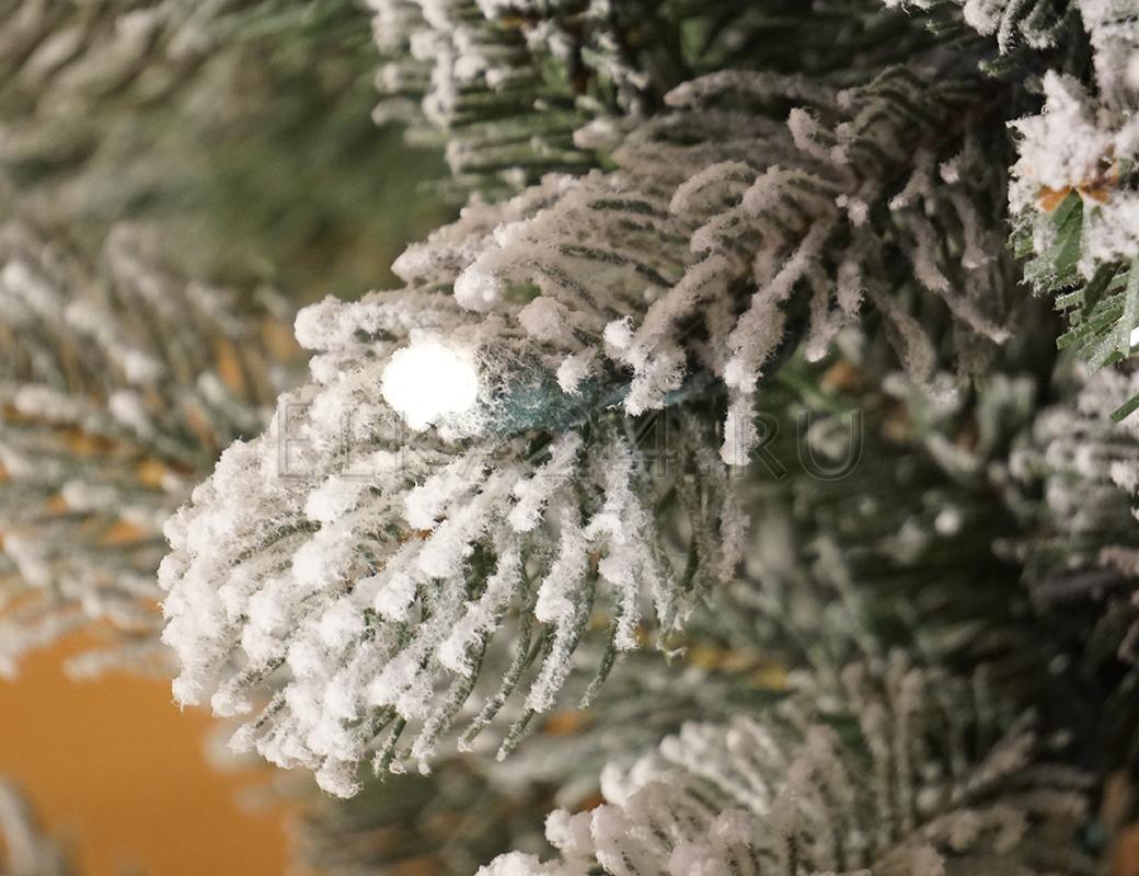 Как сделать эффект снега на елку фото